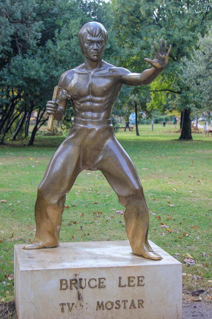 Bruce Lee Statue in Mostar, Bosnia and Herzegovina