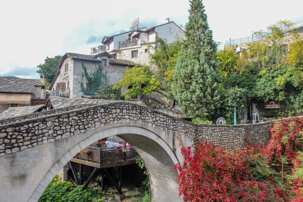 Crooked Bridge in Mostar, Bosnia and Herzegovina