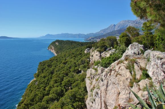 Lookout point over Osejava Peninsula, Makarska, Croatia
