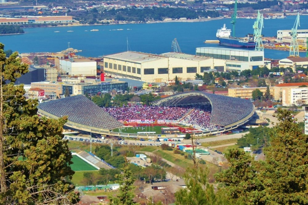 Poljud Stadium in Split, Croatia
