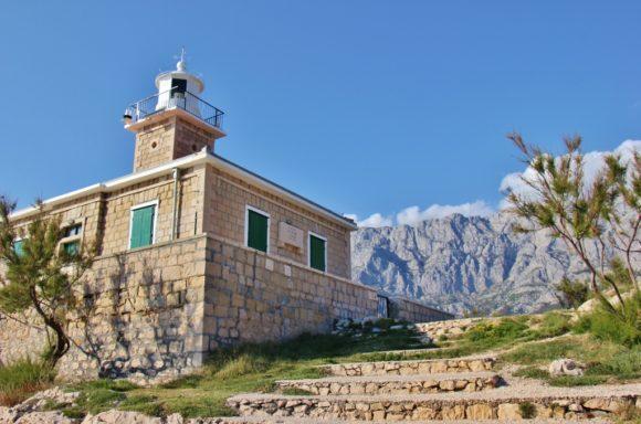 St. Peter's Lighthouse on St. Peter's Peninsula, Makarska, Croatia