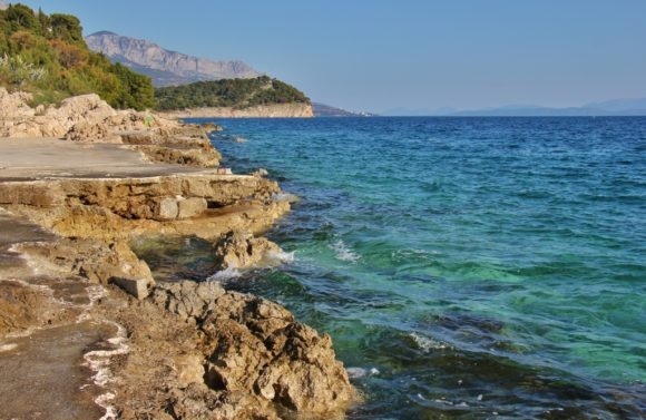 Shoreline path on St. Peter's Peninsula, Makarska, Croatia