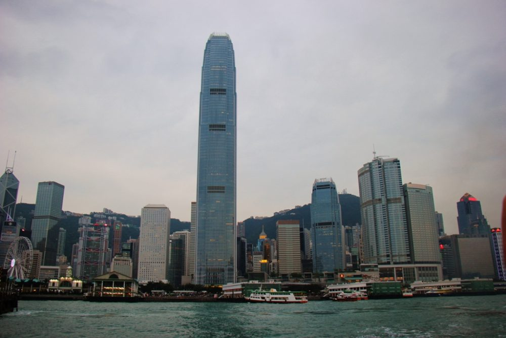 2 International Finance Center and Hong Kong Skyline