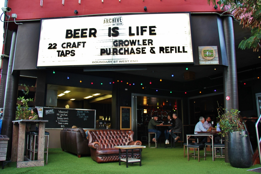 The Archive Beer Boutique Craft Beer Bar in West End, Brisbane, Australia
