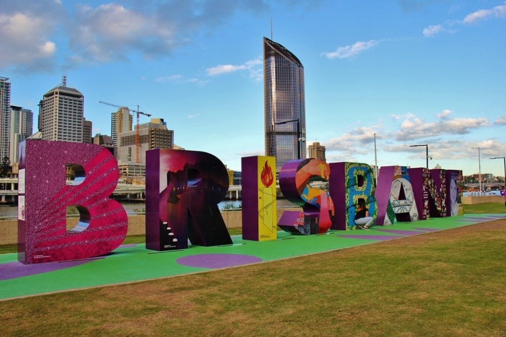 Brisbane Block Art display on South Bank, Brisbane, Australia