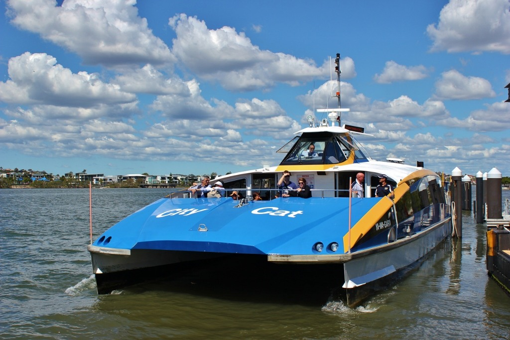 City Cat Ferry Boat on Brisbane River, Brisbane, AustraliaBrisbane, Australia