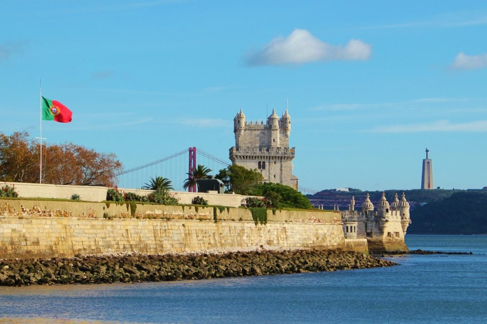 A view of Belem in Lisbon, Portugal