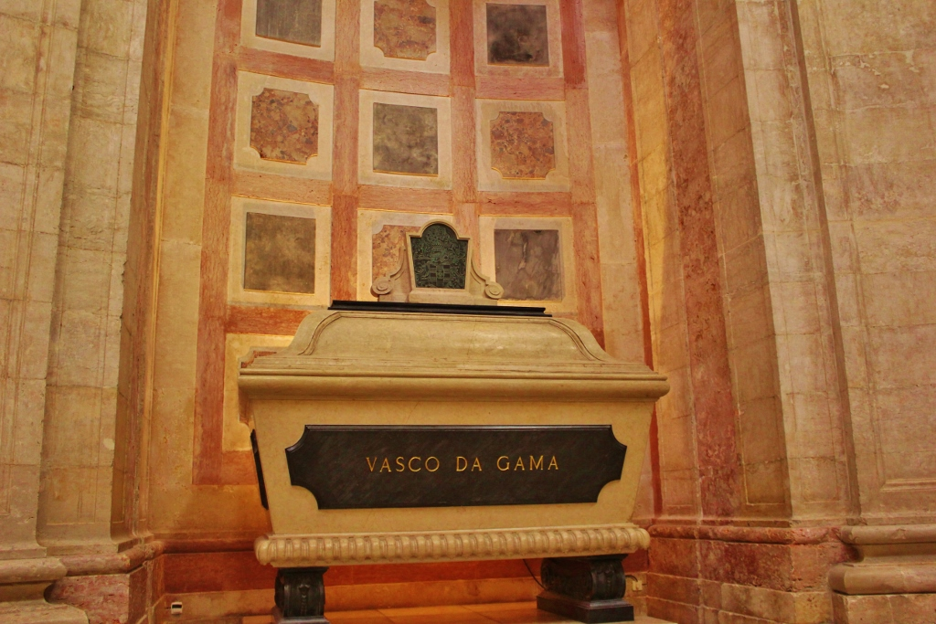Sarcophagus at the National Pantheon Museum in Lisbon, Portugal