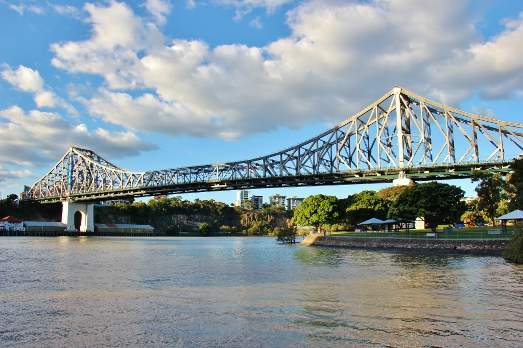 Story Bridge over Brisbane River in Brisbane, Australia