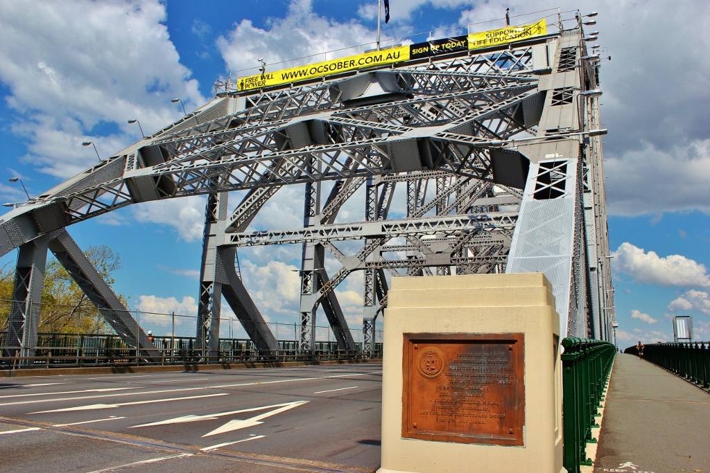 The Story Bridge walking and biking path westside in Brisbane, Australia