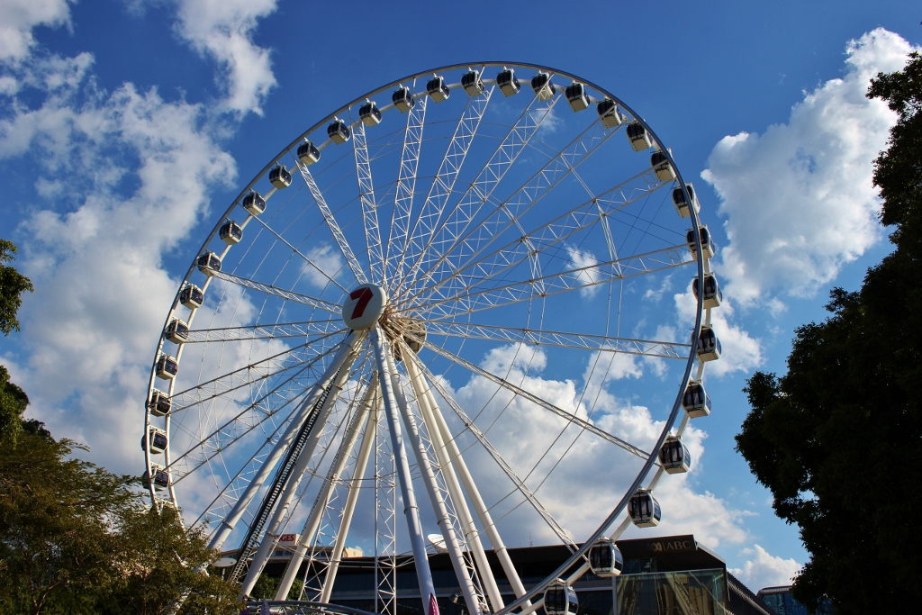 Wheel of Brisbane observation wheel in South Bank, Brisbane, Australia