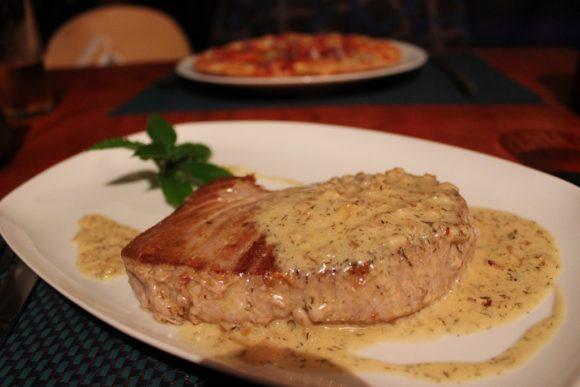 Tuna steak common Easter Island food, JetSettingFools.com