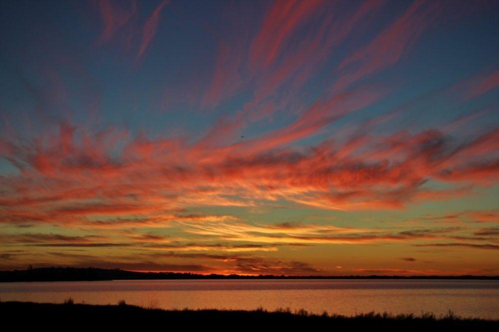 Colorful sunset on Lake Colac, Australia, JetSettingFools.com