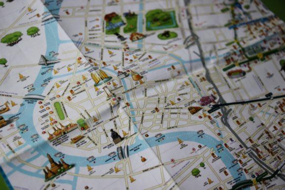 Tourist Map of Bangkok, Thailand