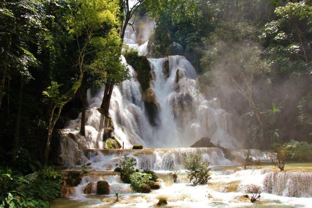 Kuang Si Waterfalls in Luang Prabang, Laos