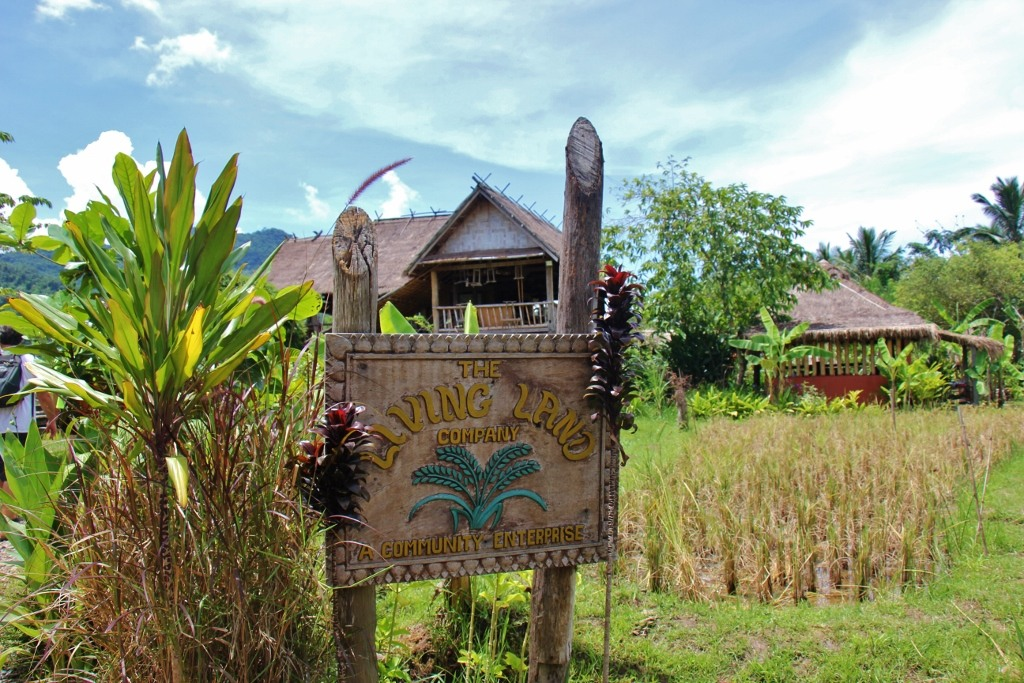 Entrance to Living Lang Lao Rice Farm in Luang Prabang, Laos