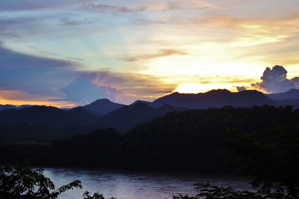 Mount Phousi for Sunset in Luang Prabang, Laos