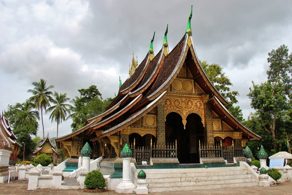 Colorful temple at Wat Xieng Thong, Luang Prabang, Laos