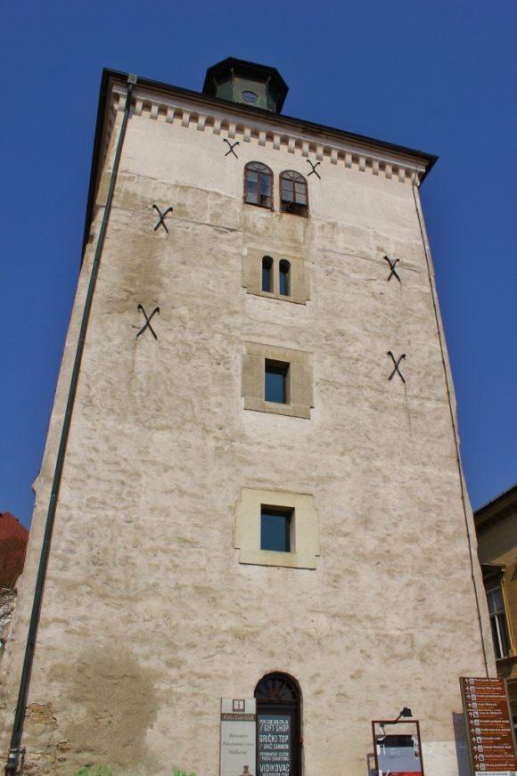 Lookout Tower Kula Lotrscak in Zagreb, Croatia