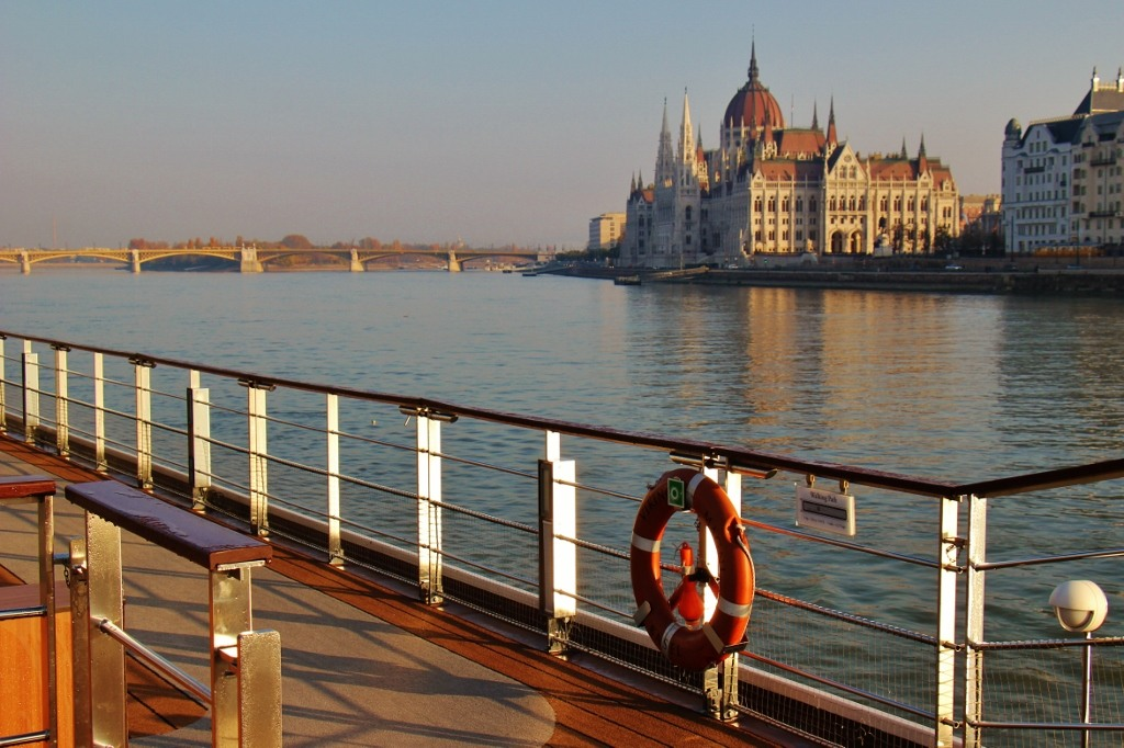Sailing into Budapest aboard Viking Magni Longship