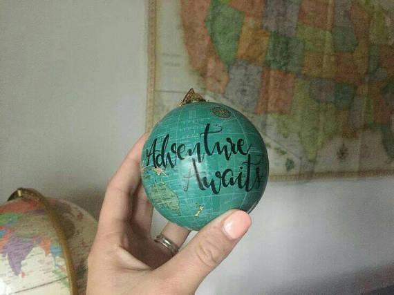 Globe Ornament Unique Travel Gifts