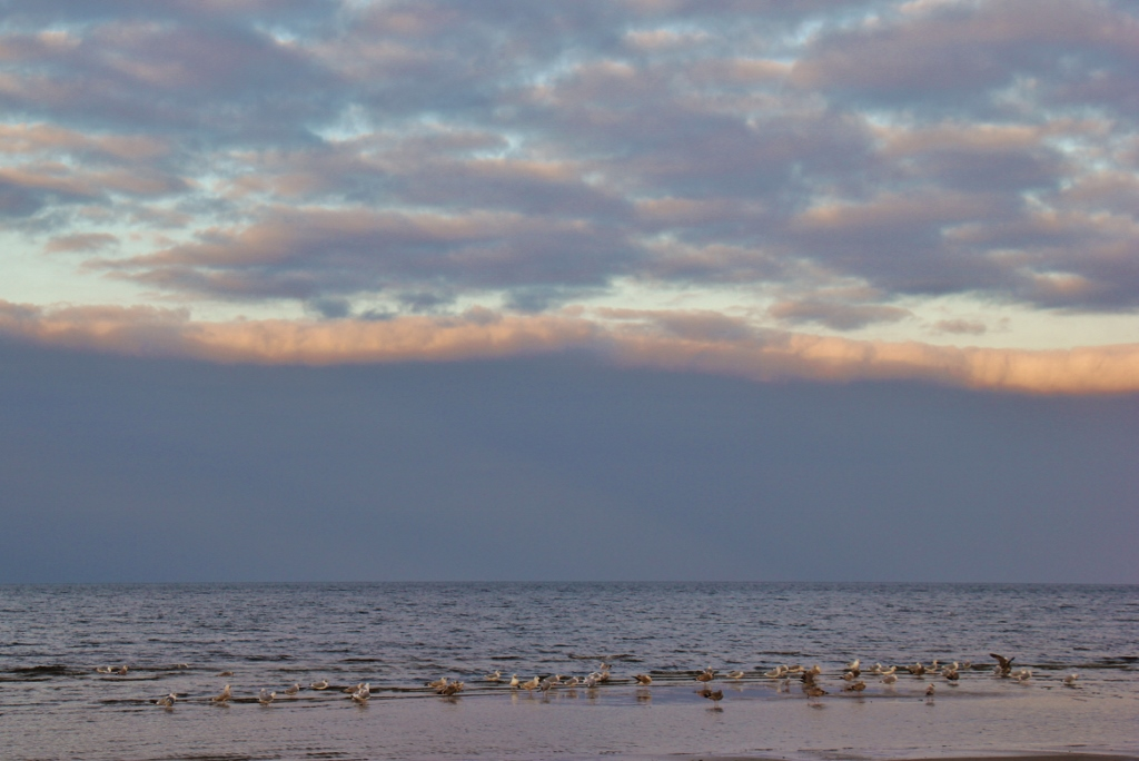 Cloudy day at Jurmala Beach in Riga, Latvia