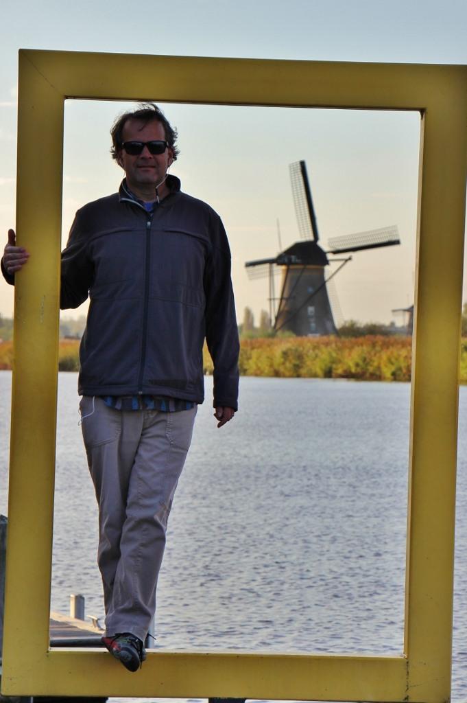 Kris at Kinderdijk Windmills, The Netherlands