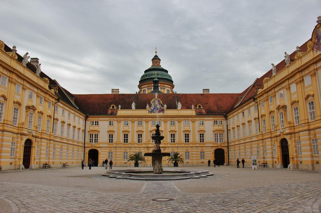 Courtyard in Melk Abbey in Austria