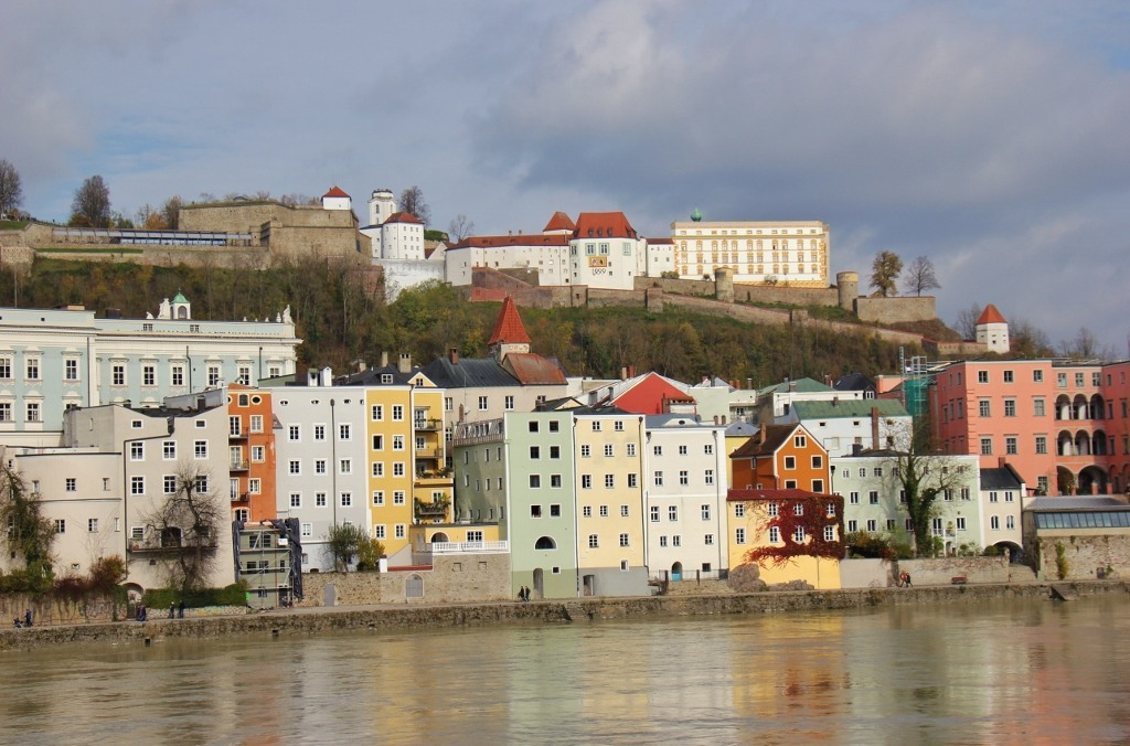 Hill-top Veste Oberhaus Fortress, Passau, Germany