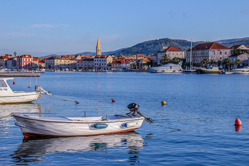 Boats in Stari Grad Maria in Stari Grad on Hvar Island, Croatia