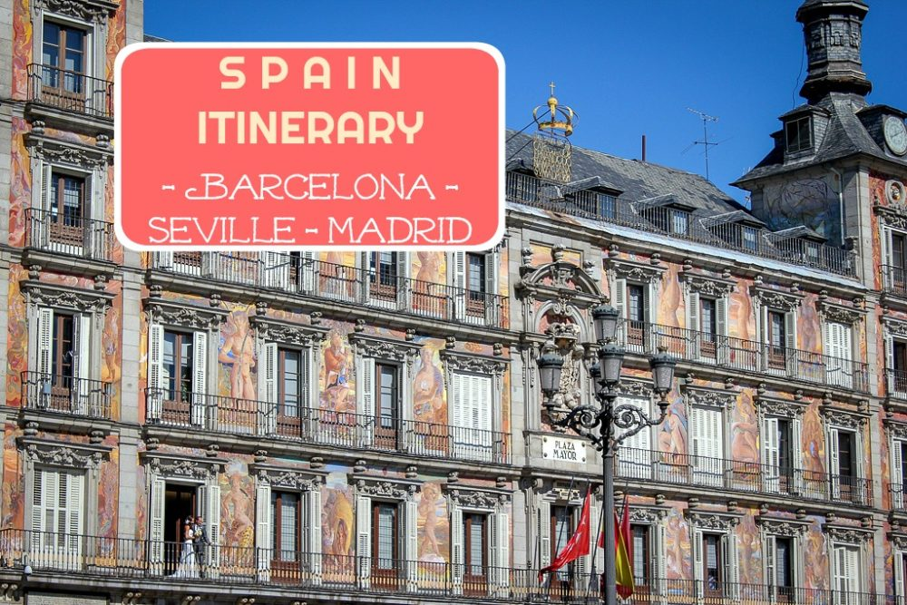 Spain Itinerary Barcelona Seville Madrid by JetSettingFools.com