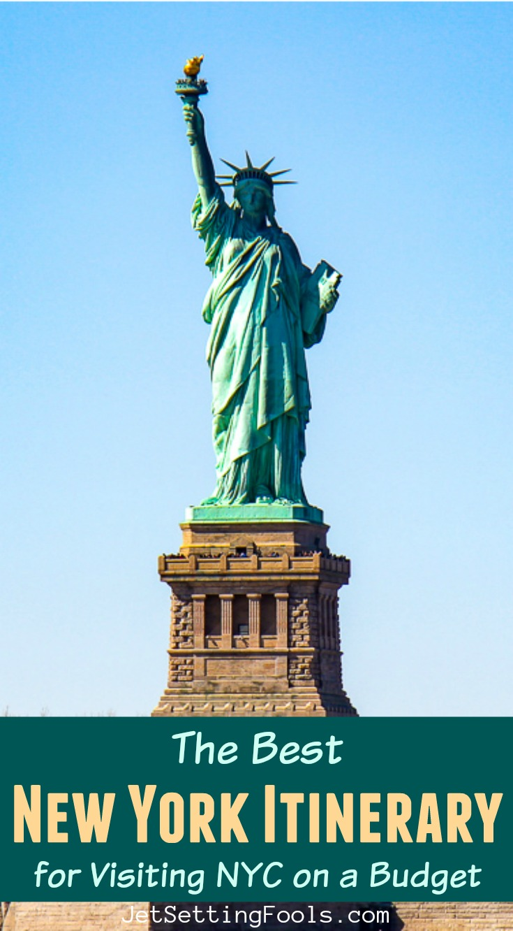 The Best New York City Itinerary on a Budget by JetSettingFools.com