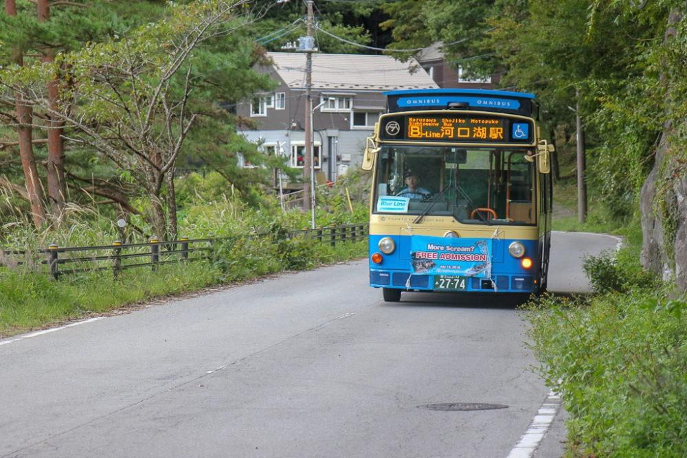 Lake Kawaguchi Tourist Bus in Kawaguchiko, Japan