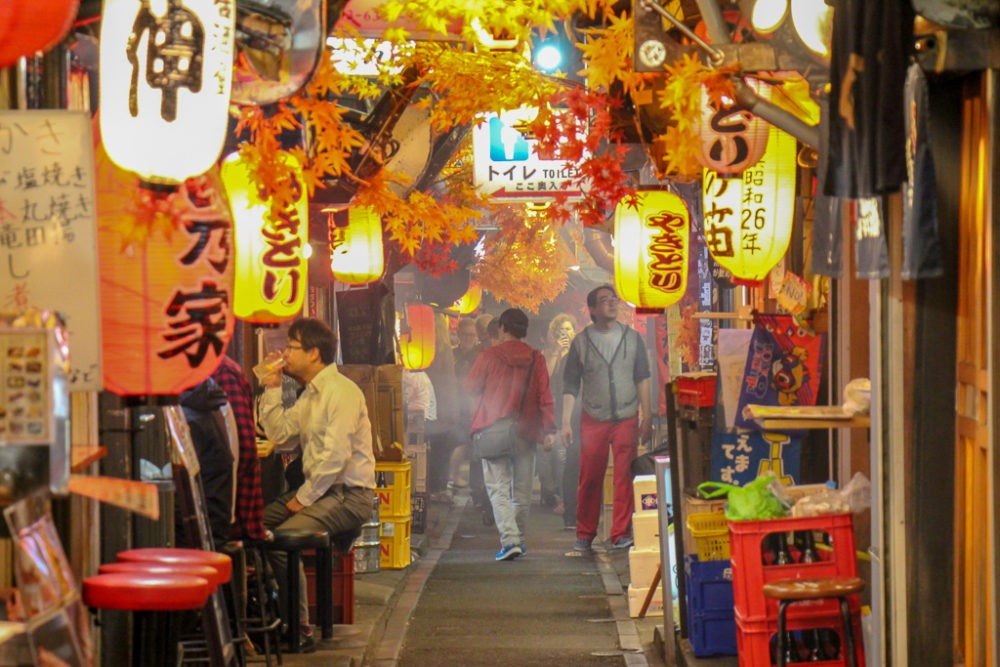 Omoide Yokocho, Memory Alley, yakitori restaurants in Tokyo, Japan