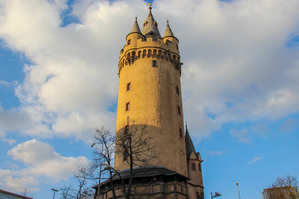 Historic Eschenheimer Tower in Frankfurt, Germany