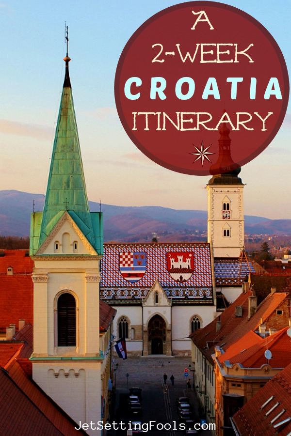 2 week Croatia Itinerary Zagreb St. Mark's Church by JetSettingFools.com
