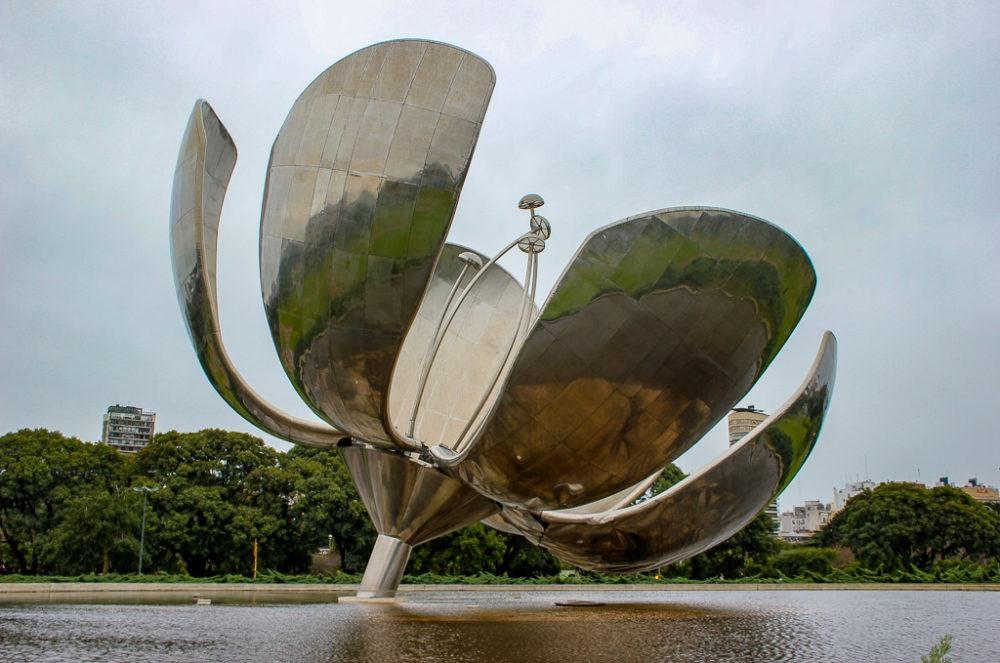Floralis Generica flower sculpture in Buenos Aires, Argentina