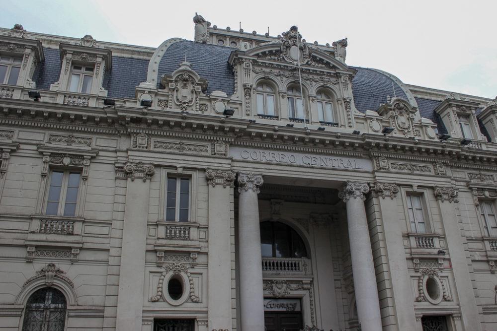 Correro Central Post Office on Plaza de Armas in Santiago, Chile