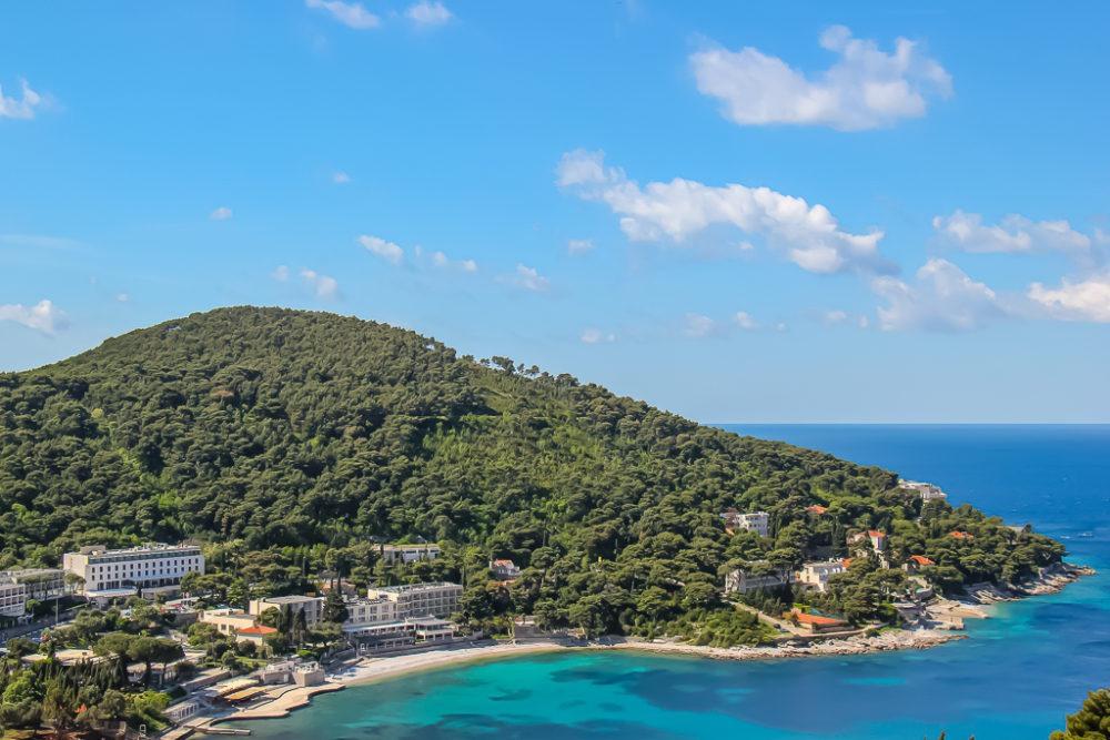 Lapad Beach in Dubrovnik, Croatia