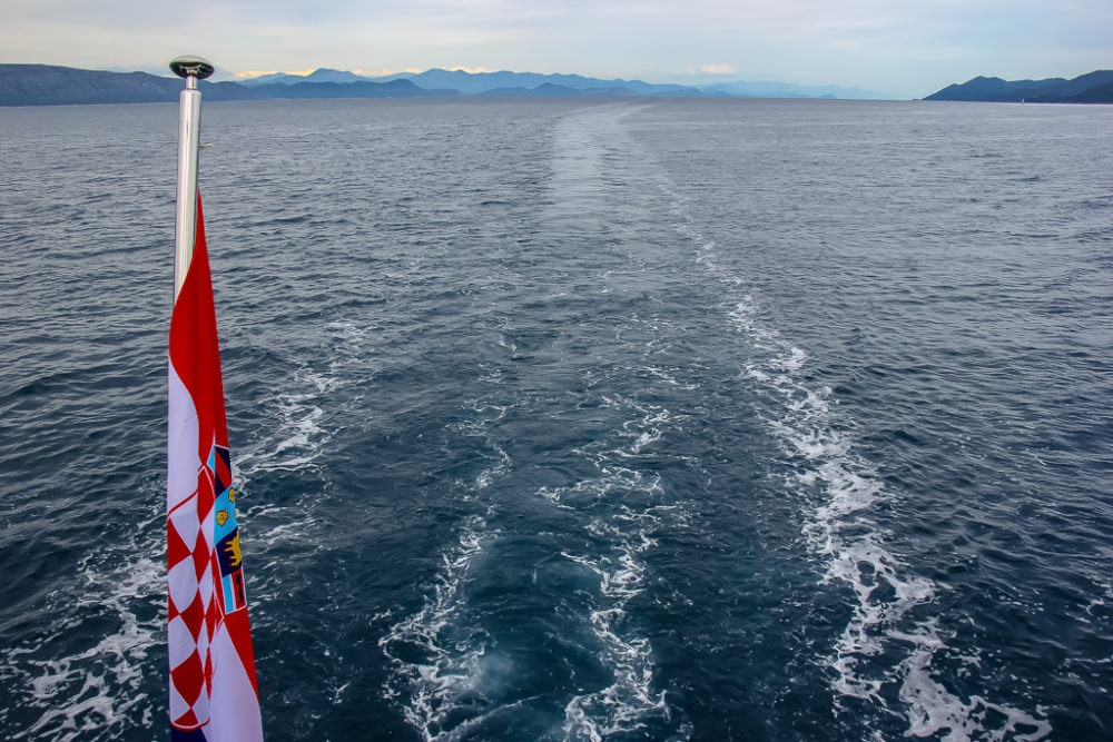 Sea views aboard Almissa on Adriatic Sea Cruise