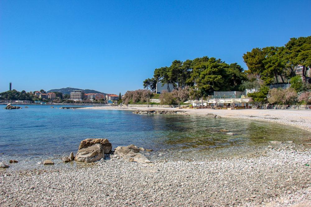 Ovcice Beach in Split, Croatia