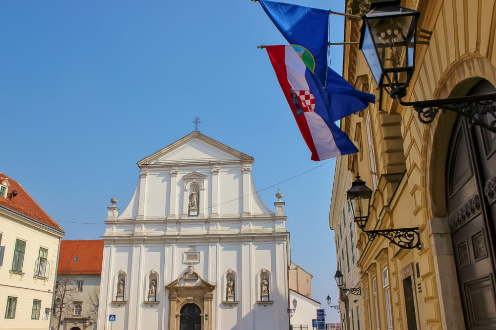 St. Catherine of Alexandria Church in Zagreb, Croatia
