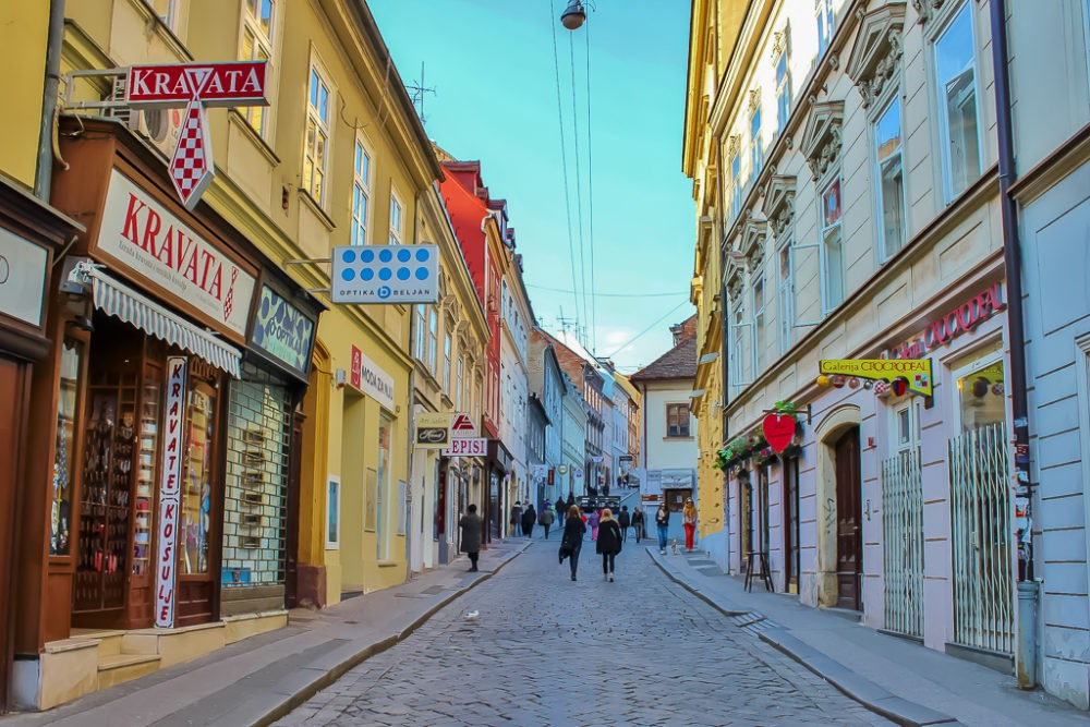 Radiceva Walking Street in Zagreb, Croatia
