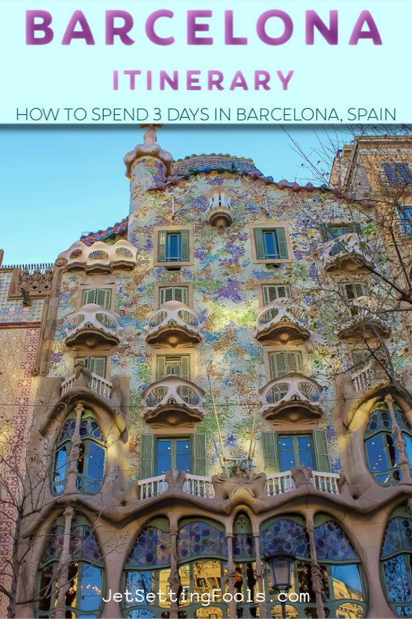 Barcelona Itinerary by JetSettingFools.com