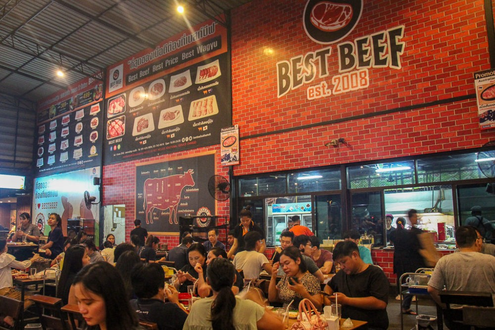 Best Beef Cook-It-Yourself Restaurant in On Nut Bangkok, Thailand