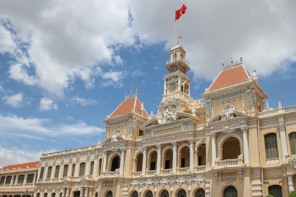 Classic Architecture, City Hall, Saigon, HCMC, Vietnam