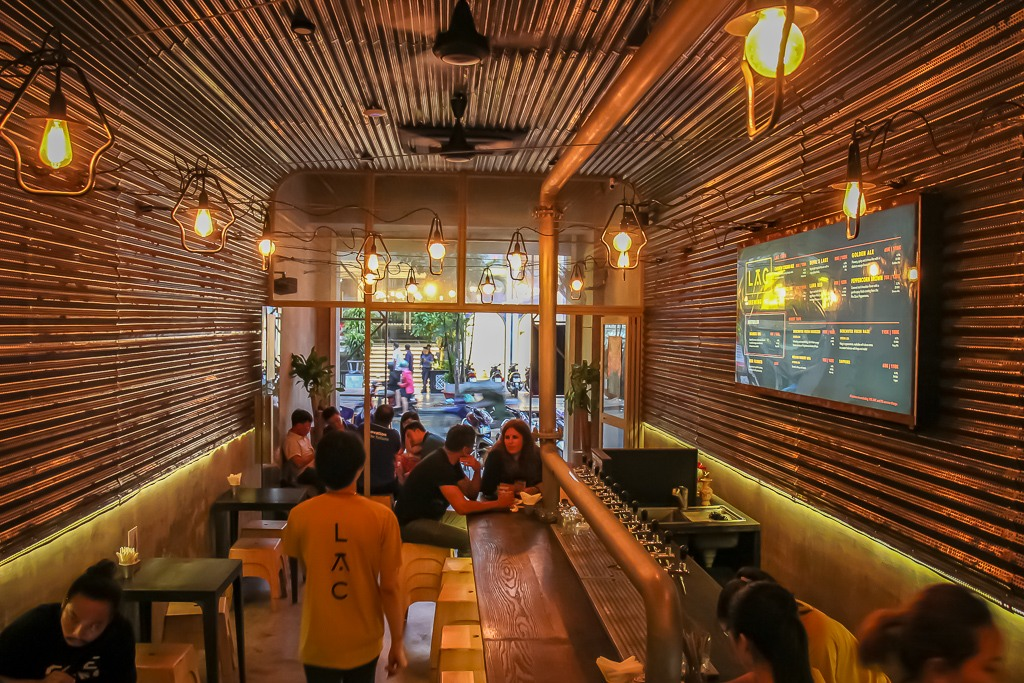 Inside ground floor, LAC Craft Beer Bar, Saigon, HCMC, Vietnam