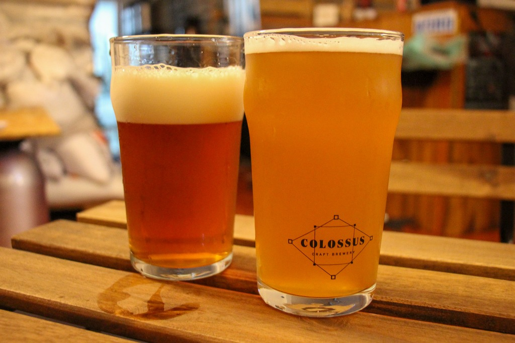 Up and coming craft beer, Colossus Craft Beer Porto, Portugal
