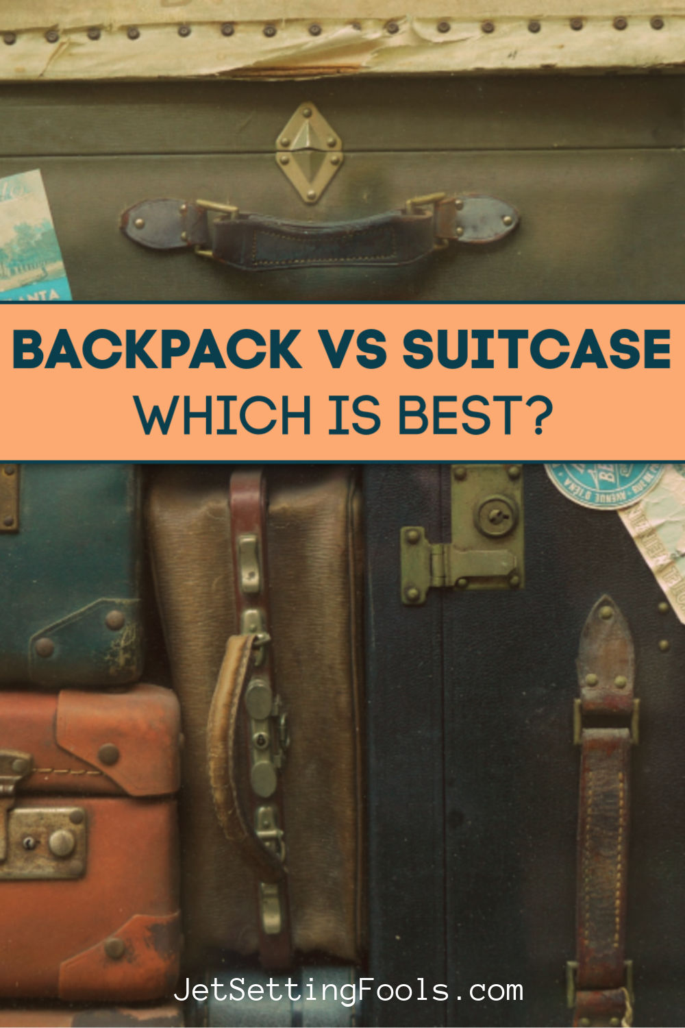 Backpack vs Suitcase by JetSettingFools.com